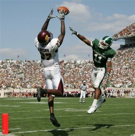 Antonio Brown At Central Michigan College Football Players