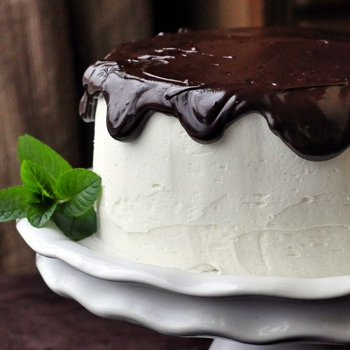 Midnight Mint Chocolate Cake - one of my favorite celebration cakes from the last 6 years on RockRecipes dot com.