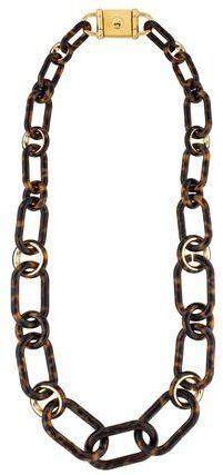 Michael Kors Tortoise Shell Link Necklace Link Necklace Silver Necklaces Women Gold Necklace Women