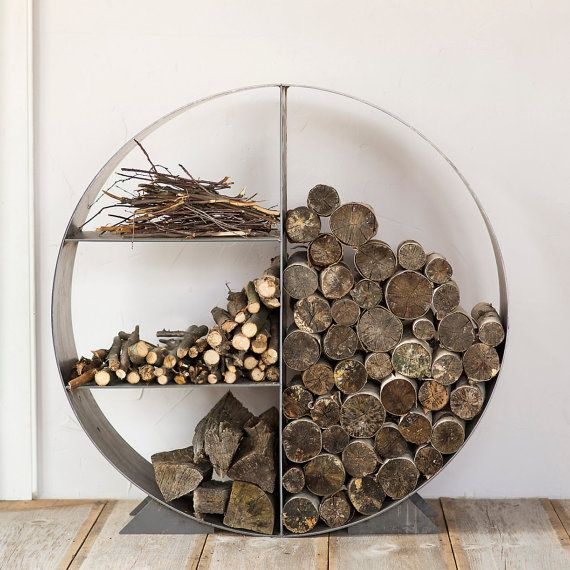 Steel Circle Log Holder Metal Rack Custom Firewood