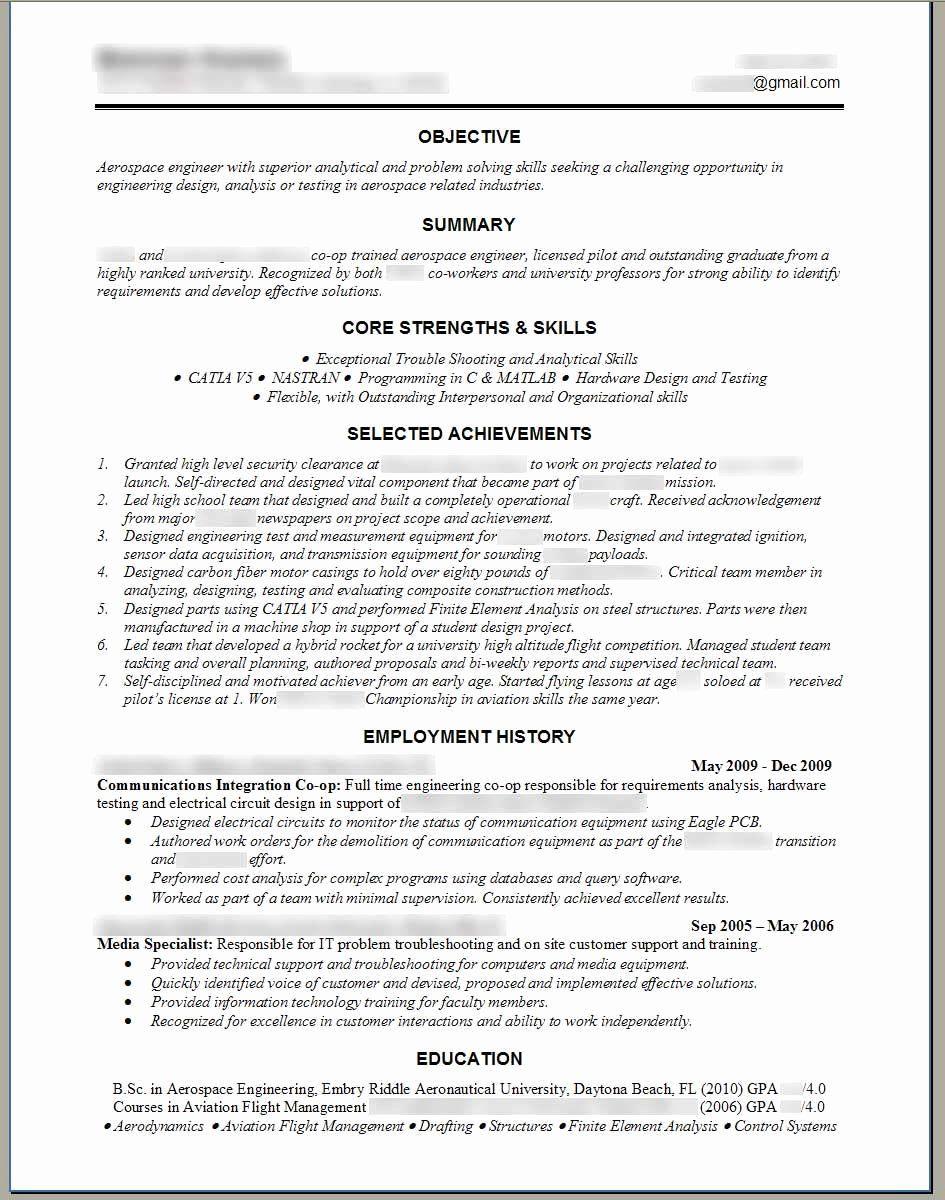25 Engineering Resume Template Word in 2020 Engineering