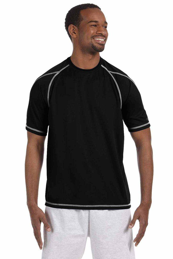Champion Mens Double Dry Polyester Mesh T-Shirt