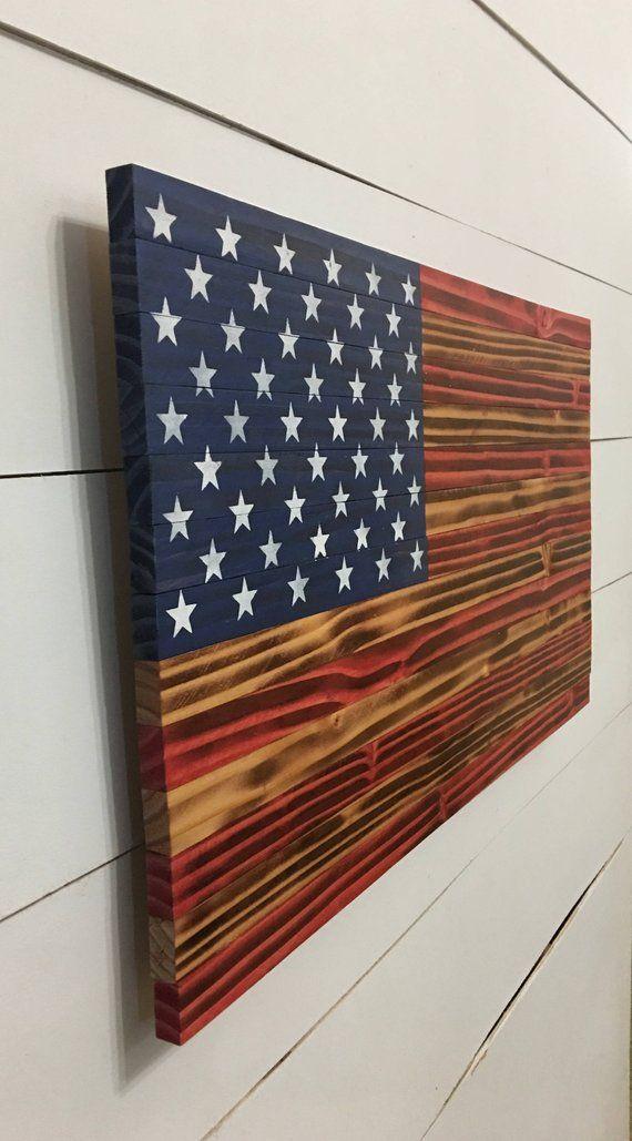 American Flag Wood American Flag - American Flag - Rustic Wood American Flag - Wooden American Flag - Distressed Flag - Wood Burnt Flag #americanflag