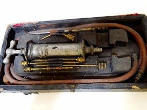 1830s embalming RARE aspirator syringe set STEVENS London