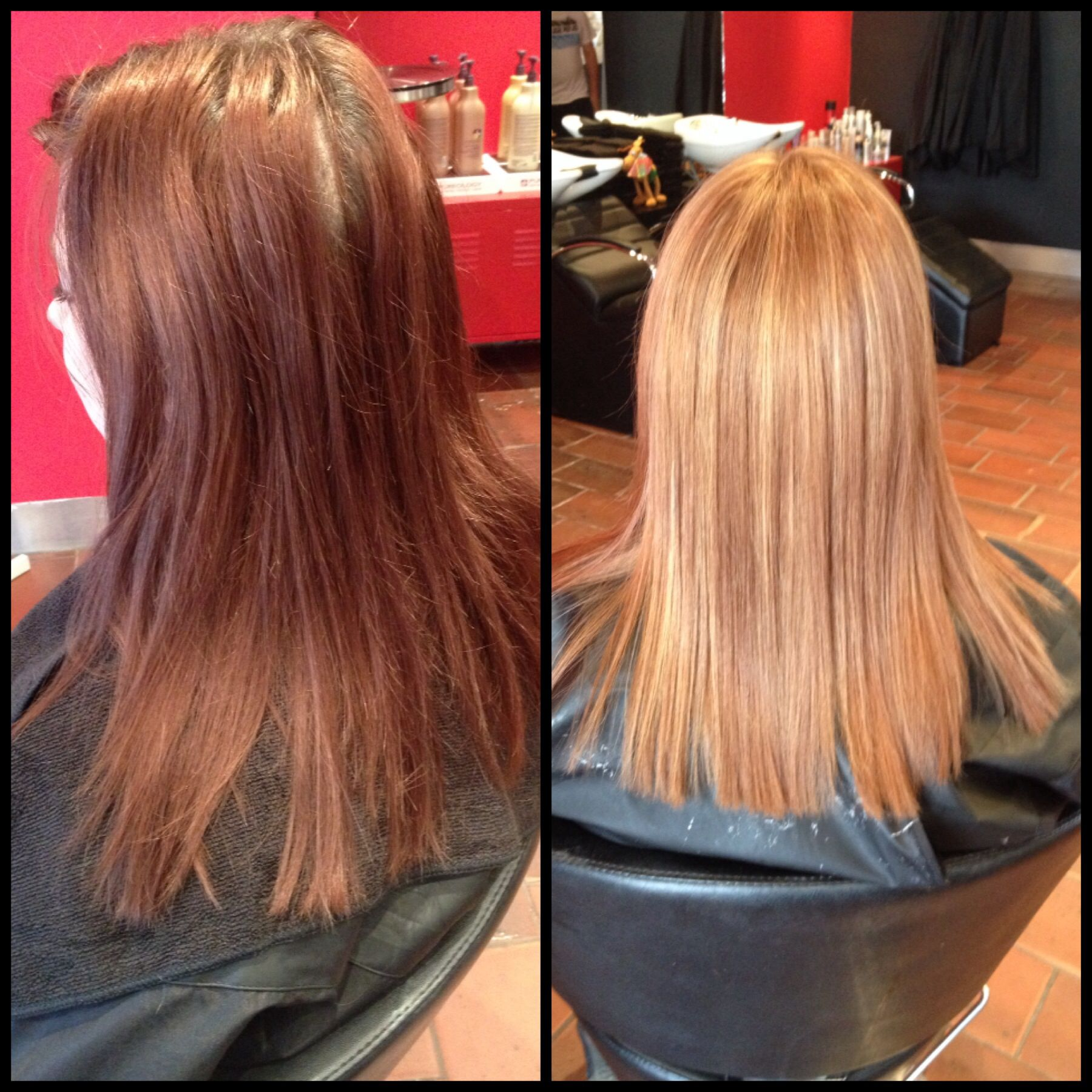 Faded Red To Light Brown With Highlights Hair Color Hair Long
