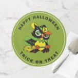 Funny Owl Halloween Party Custom Cake Stands #halloween #happyhalloween #halloweenparty #halloweenmakeup #halloweencostume