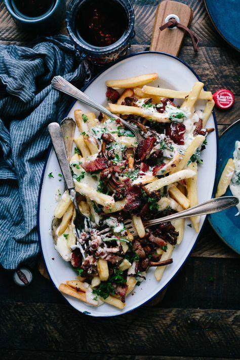 Mushroom Bacon Alfredo Poutine — Cheeky Kitchen