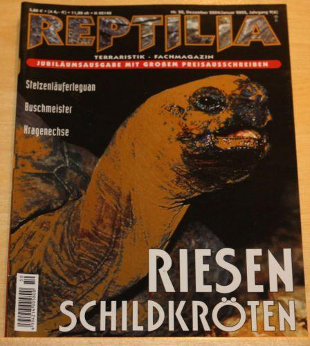Reptilia No.50 Dezember/Januar 2005 +++ Riesenschildkröten