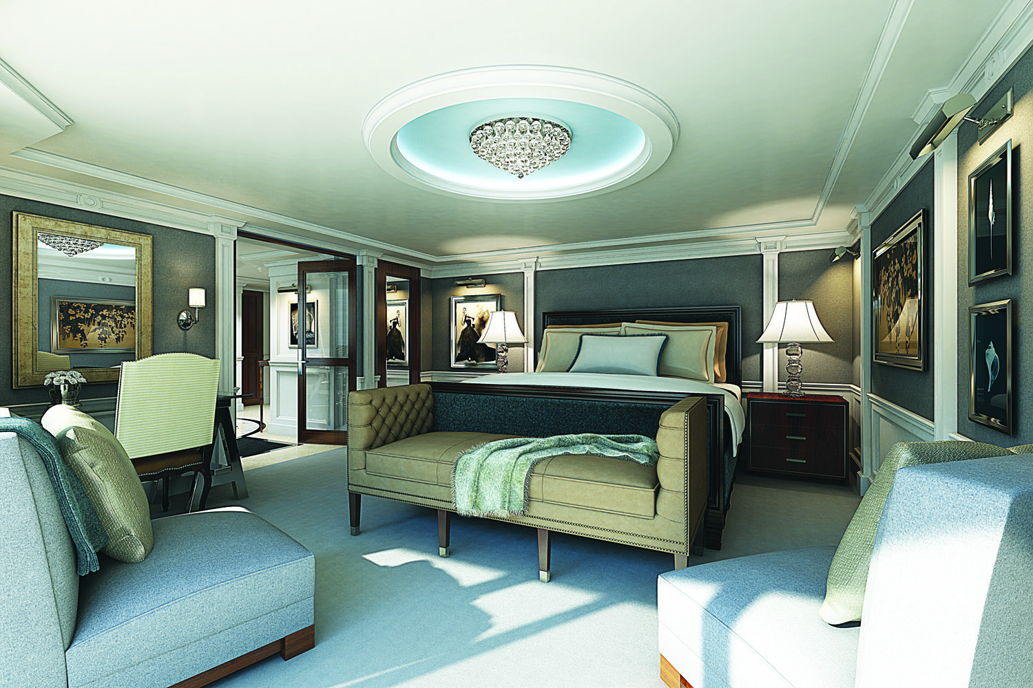 Master bedroom vs owners suite  The New Ownerus suite on Oceaniaus New Ship  Riviera Worldview