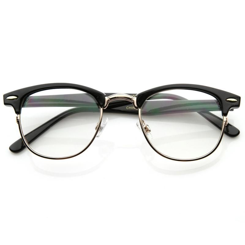 Photo of Vintage Optical RX Clear Lens Half Frame Glasses 2946 49mm