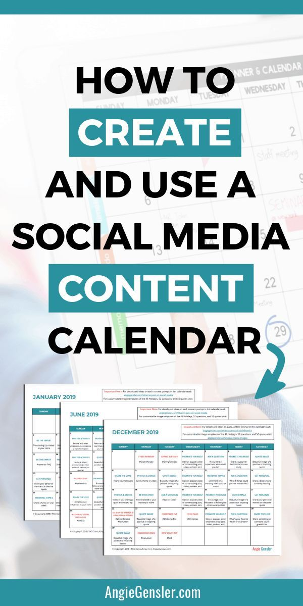 How to Create and Use a Social Media Content Calen...