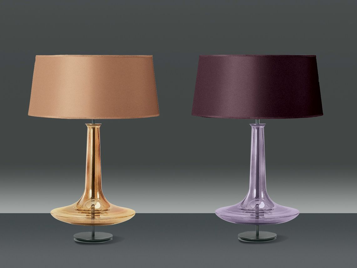 Blown Glass Table Lamps - Blown glass table lamp pascia new classic collection by penta design gaia bellavia