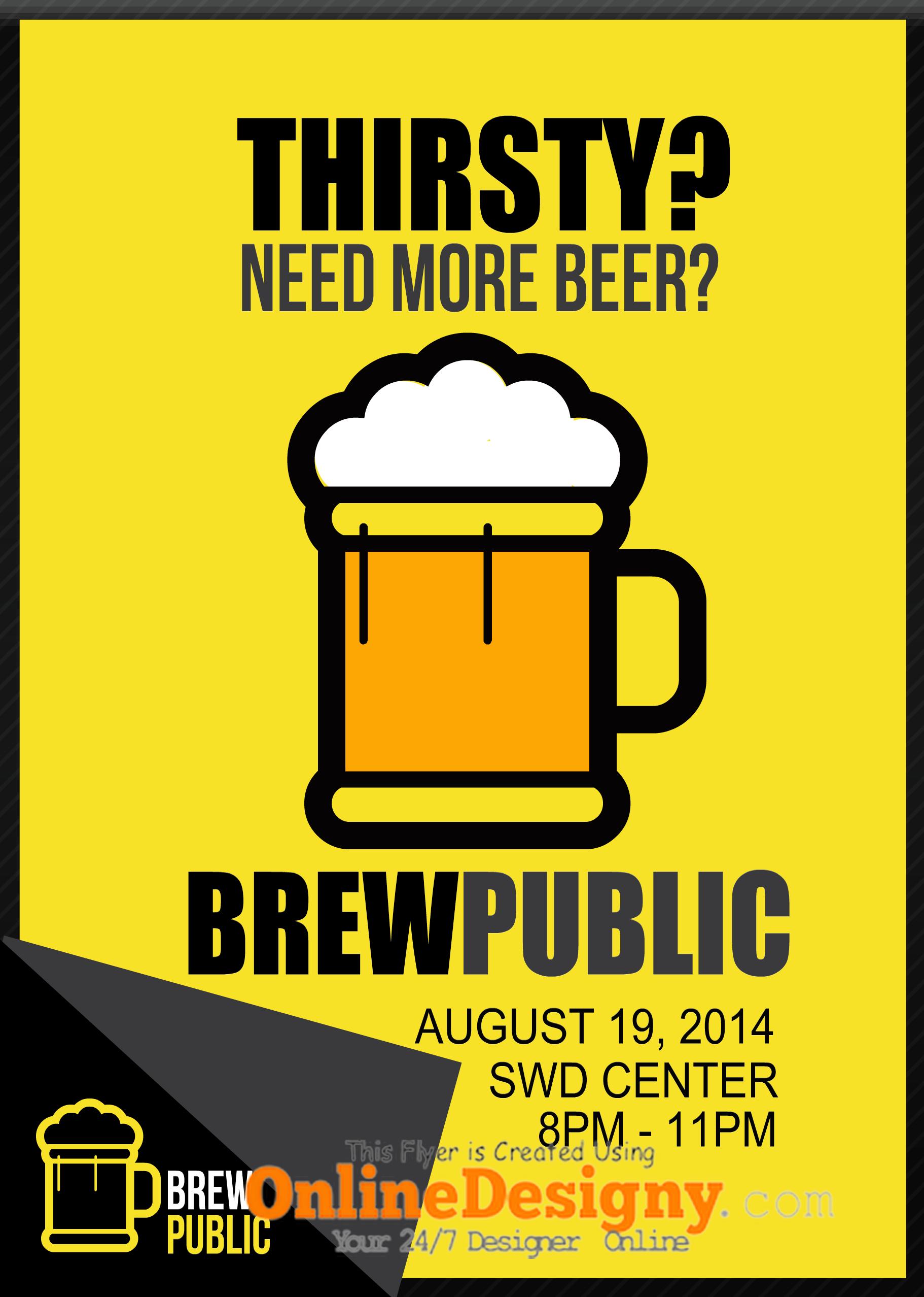 beer bar promotion flyer design | graphic design | pinterest | flyer