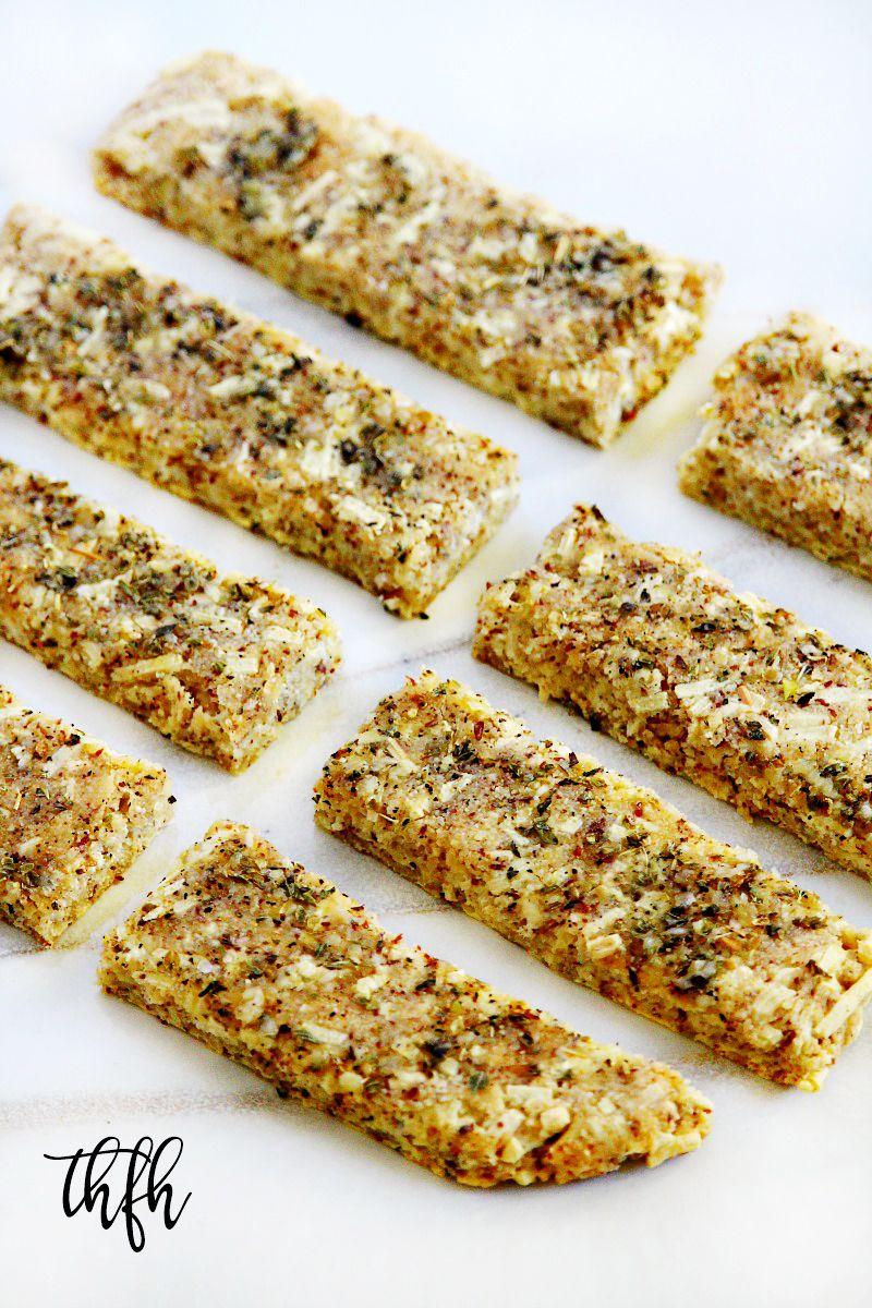 "GlutenFree Vegan Flourless ""Cheesy"" Garlic Breadsticks"
