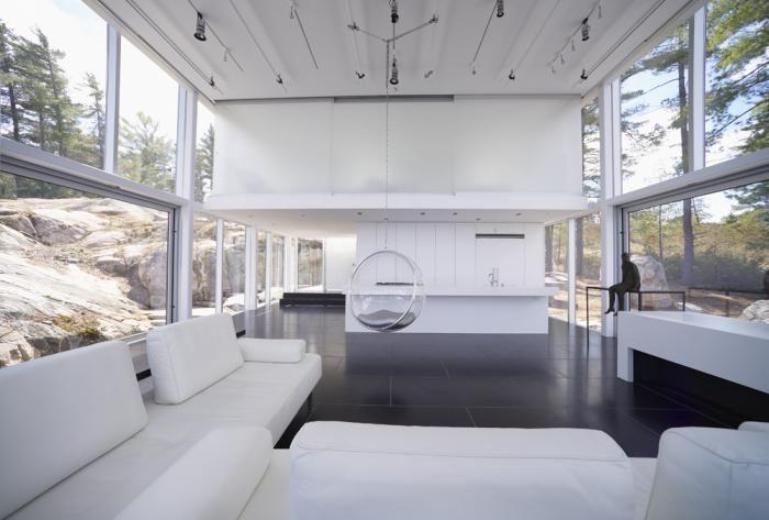 Living Room design from a photographer's studio in Canada designed by Toronto based design practice gh3.   #InteriorDesign #Interiors#Livingroom  