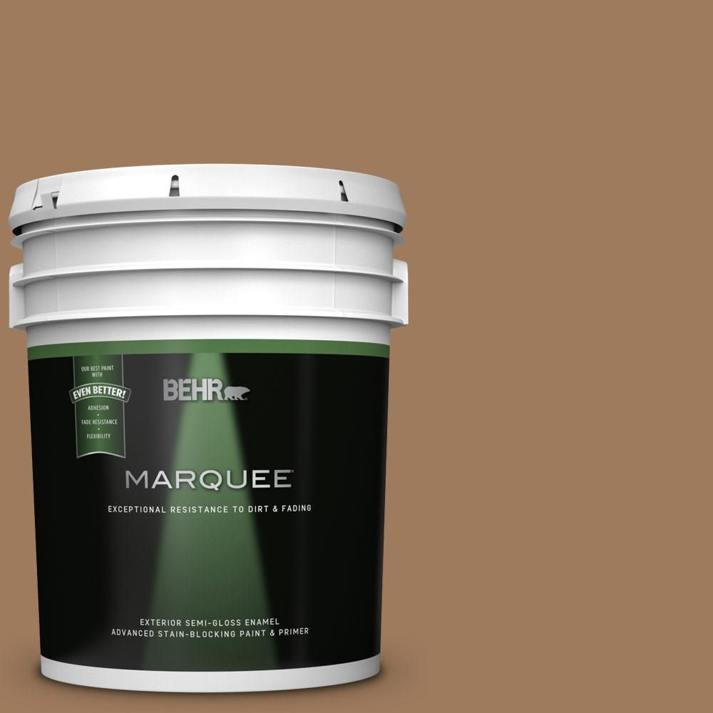 Behr Marquee 5 Gal Mq2 11 Outdoor Land Semi Gloss Enamel Exterior Paint And Primer In One Behr Marquee Behr Marquee Paint Exterior Paint