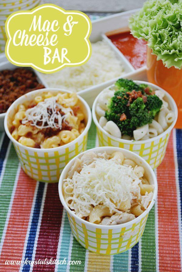 DIY Mac and Cheese Bar Buffet