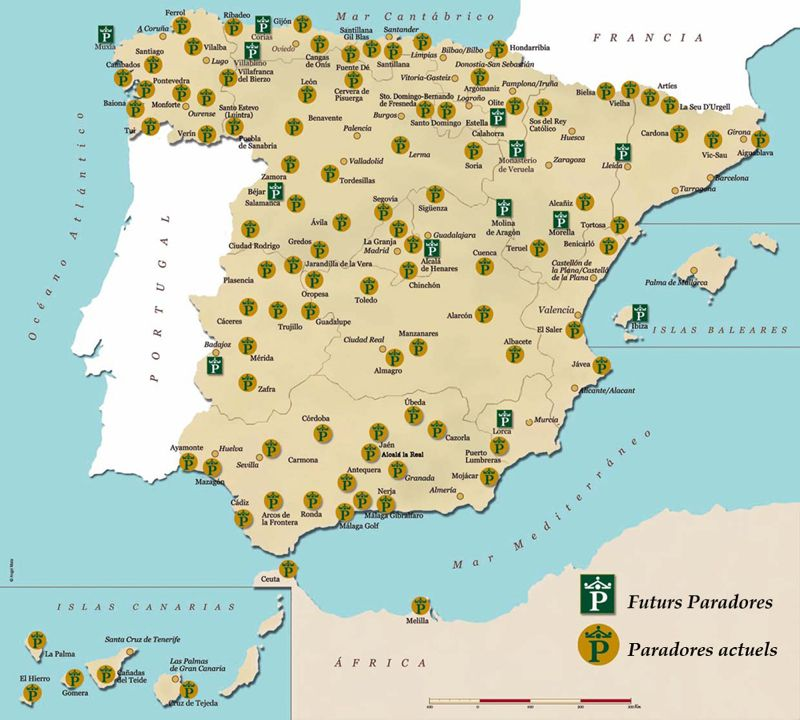 Carte des paradors en Espagne (paradores) | Someday in SPAIN