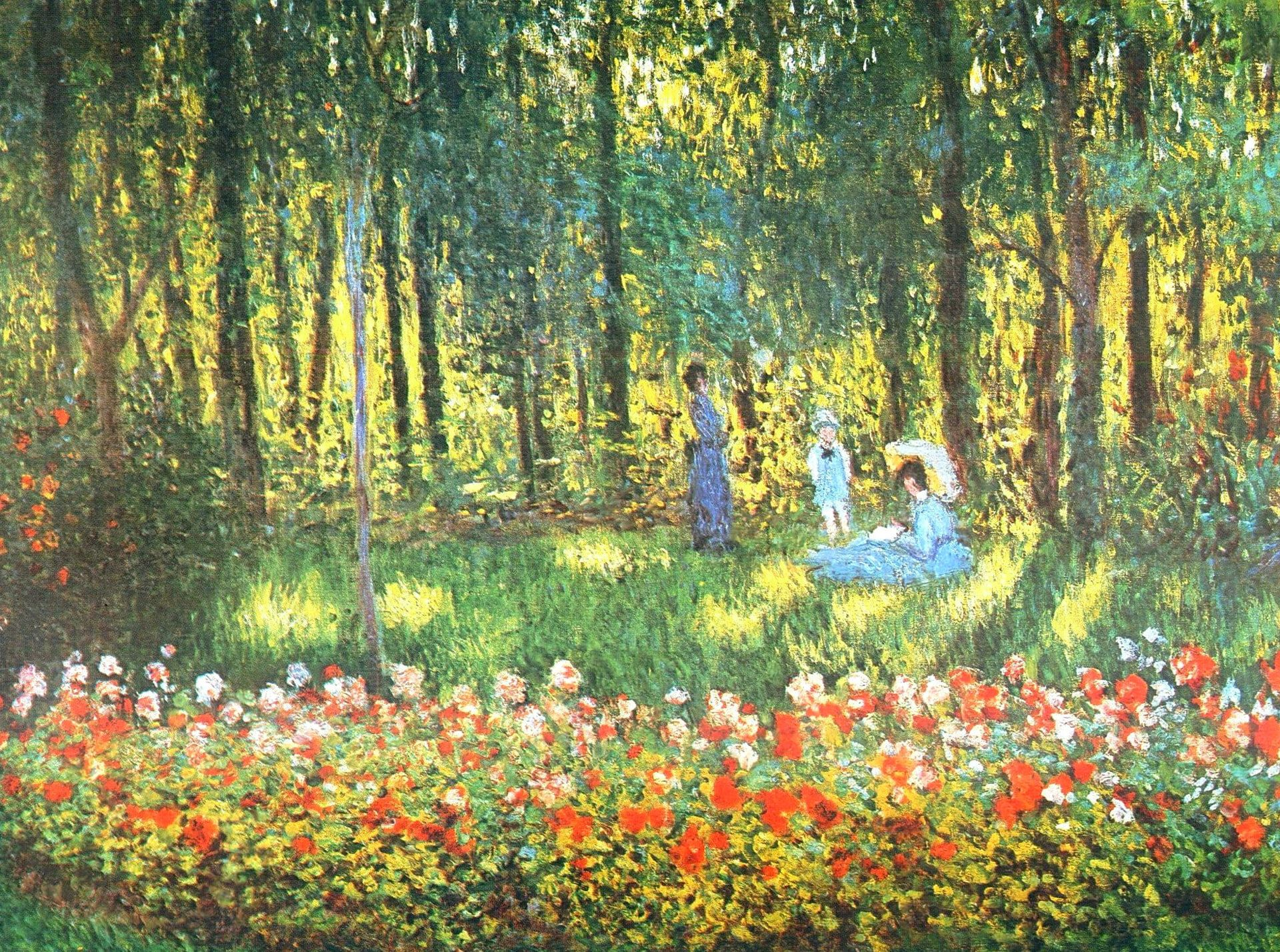 Claude Monet The Artists family in the Garden