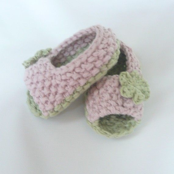 Knitting Pattern Booties Baby Peeptoe Sandals Instant Download