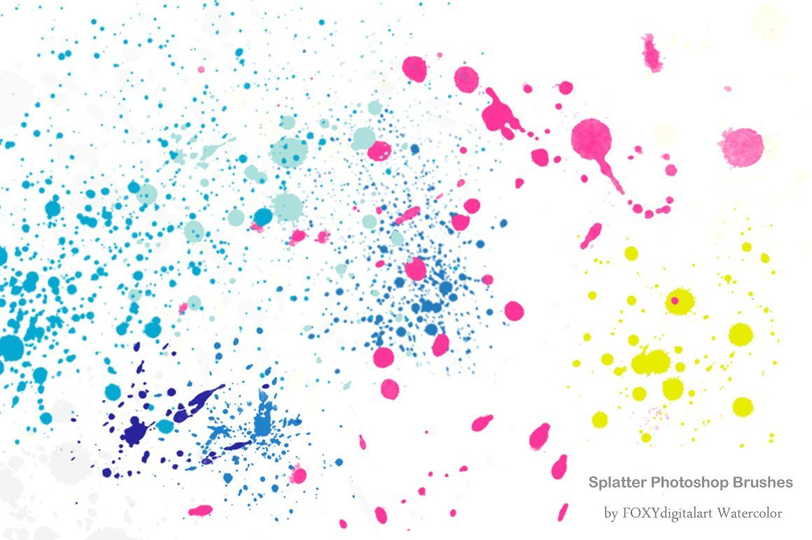 Watercolor Splatter Brushes Graffiti Splatter Brushes Handmade