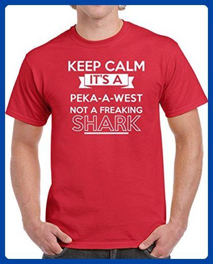 51071f9840a Peka-A-West Keep Calm It's a Dog Not a Shark Funny Pet Dog Breed Unisex T- shirt L Red - Animal shirts (*Amazon Partner-Link)