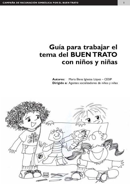 Guia Para Trabajar El Buen Trato Con Niños Kinder Mediacion