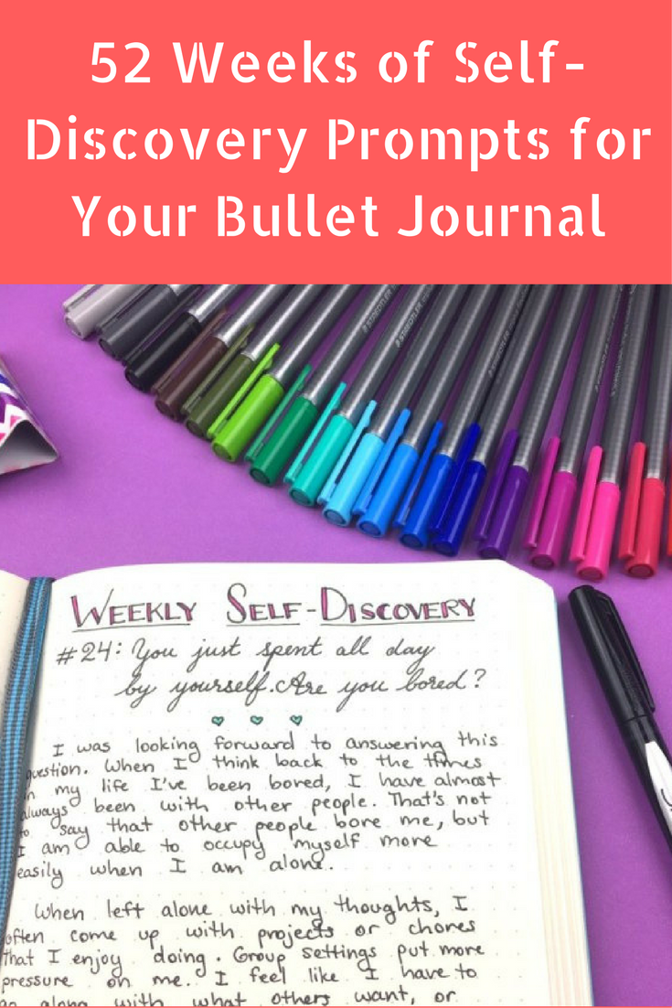 52 Weeks of Self-Discovery Prompts for Your Bullet Journal