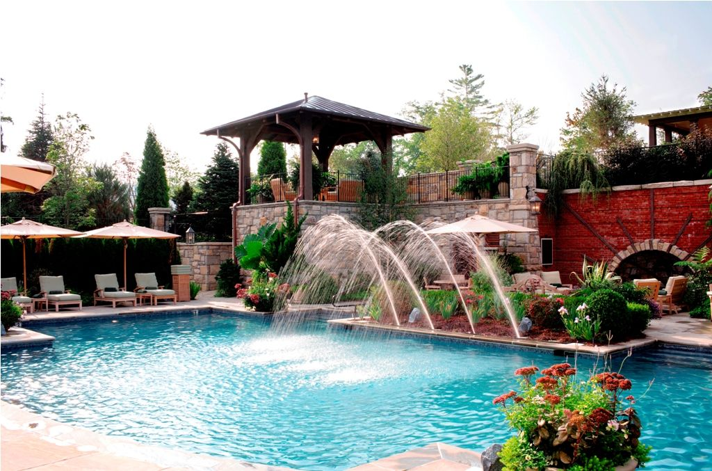 Swimming Pool Fountain Ideas swimming pool with fountain waterfall and custom rock work enterprise al dothan al ozark alabama landscaping pinterest swimming pools and Inspirations Modern Swimming Pools Decorations With Fountains Design Ideas Modern Pool Fountain Ideas