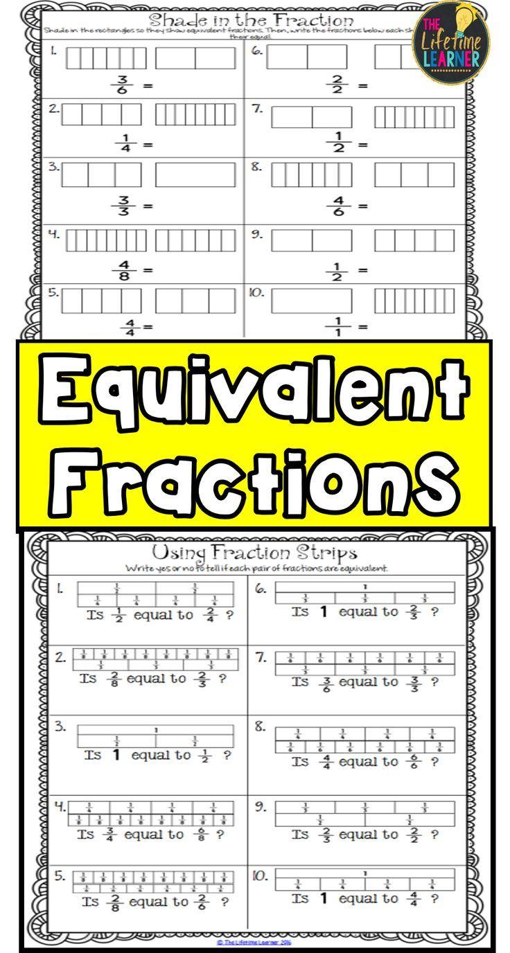 Equivalent Fractions 3rd Grade | Worksheets Games ...