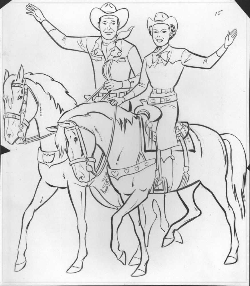 western coloring pages for kids - photo#35