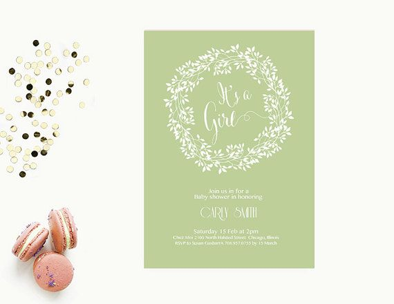 Word Template baby shower Invitation Editable Word Template