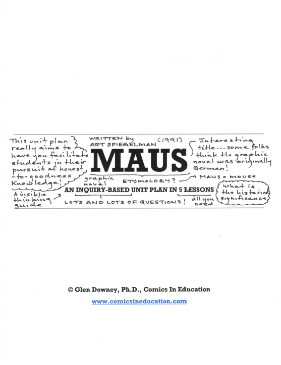 Maus: An Inquiry-Based Unit Plan in 5 Lessons - Comics in ...