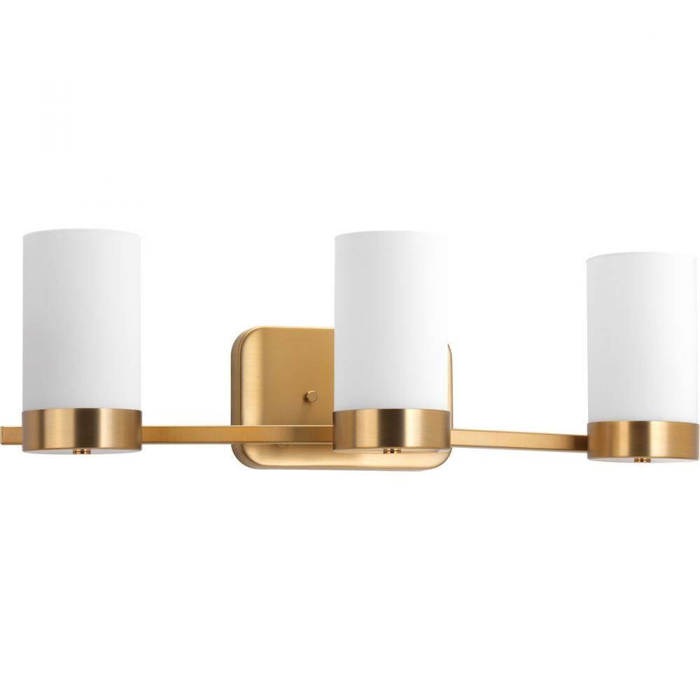 Brushed Bronzegold Modern Bathroom Light Fixture P W - Brushed gold bathroom light fixtures