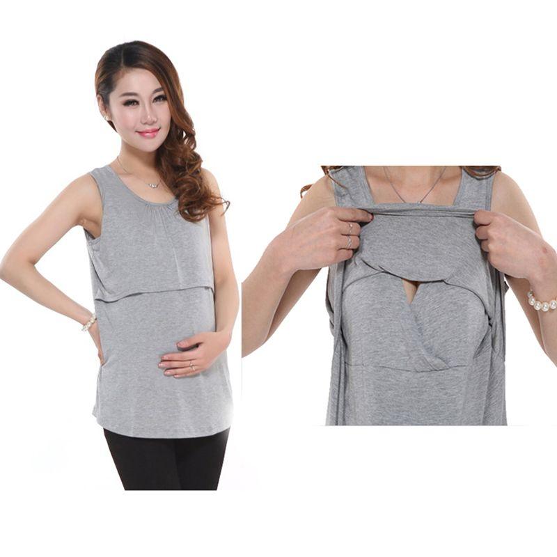 Modal maternity underwaist breastfeeding sundress at home dress ...