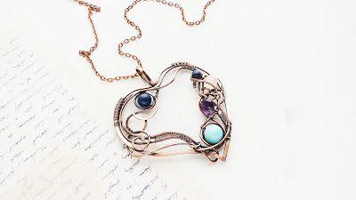 Ursula Jewelry : Free jewelry tutorial - Wire copper Heart