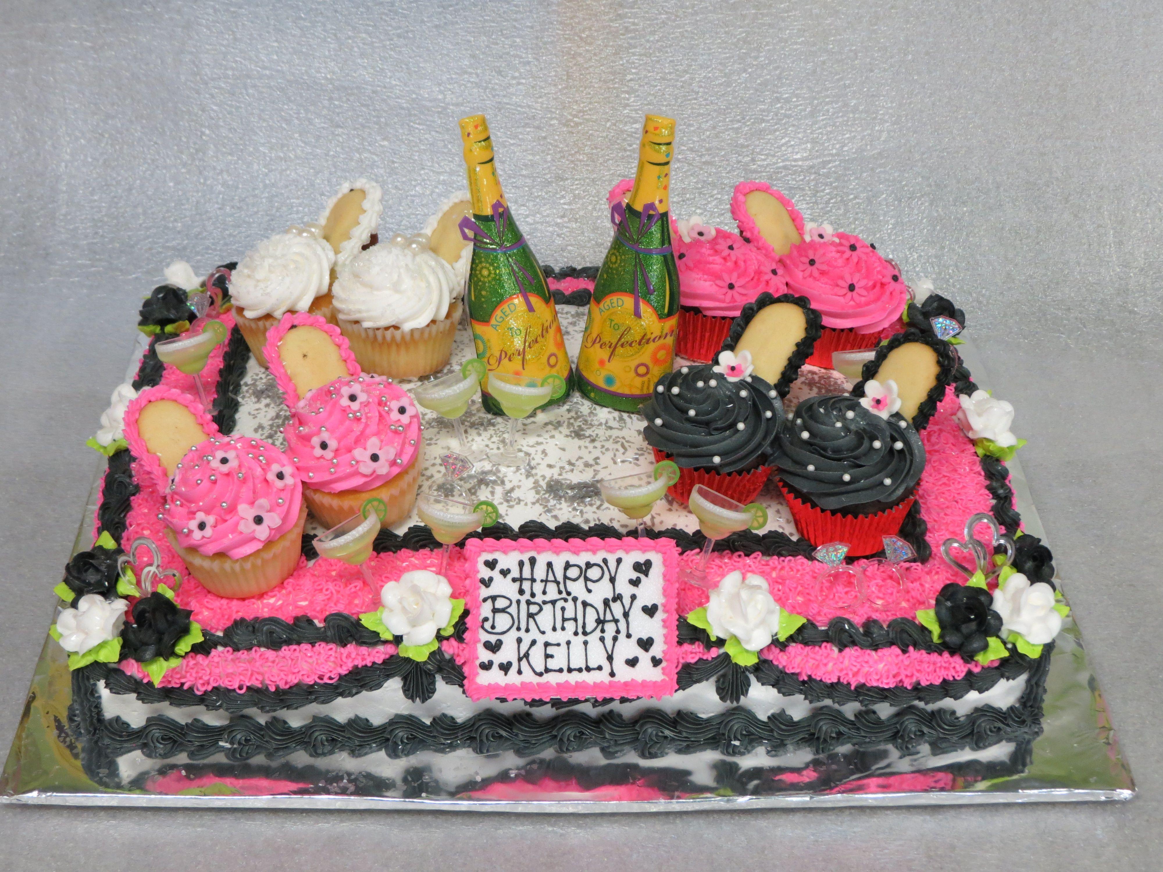 High Heelslittle Black Dress Birthday Cake Highheels