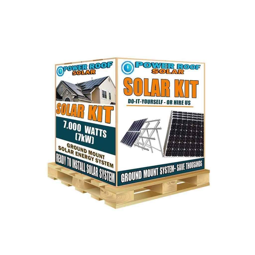 7kw 7200w Solar Panel Ground Mount Installation Kit Solarpanels Chicagosolarpanels Vivintsolar Teslasol In 2020 Solar Energy Solar Technology Solar Panel System