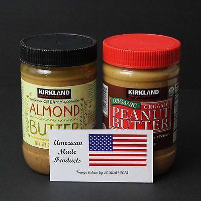 Kirkland-Signature-1-Peanut-Butter-28-oz-and-1-Almond-Butter