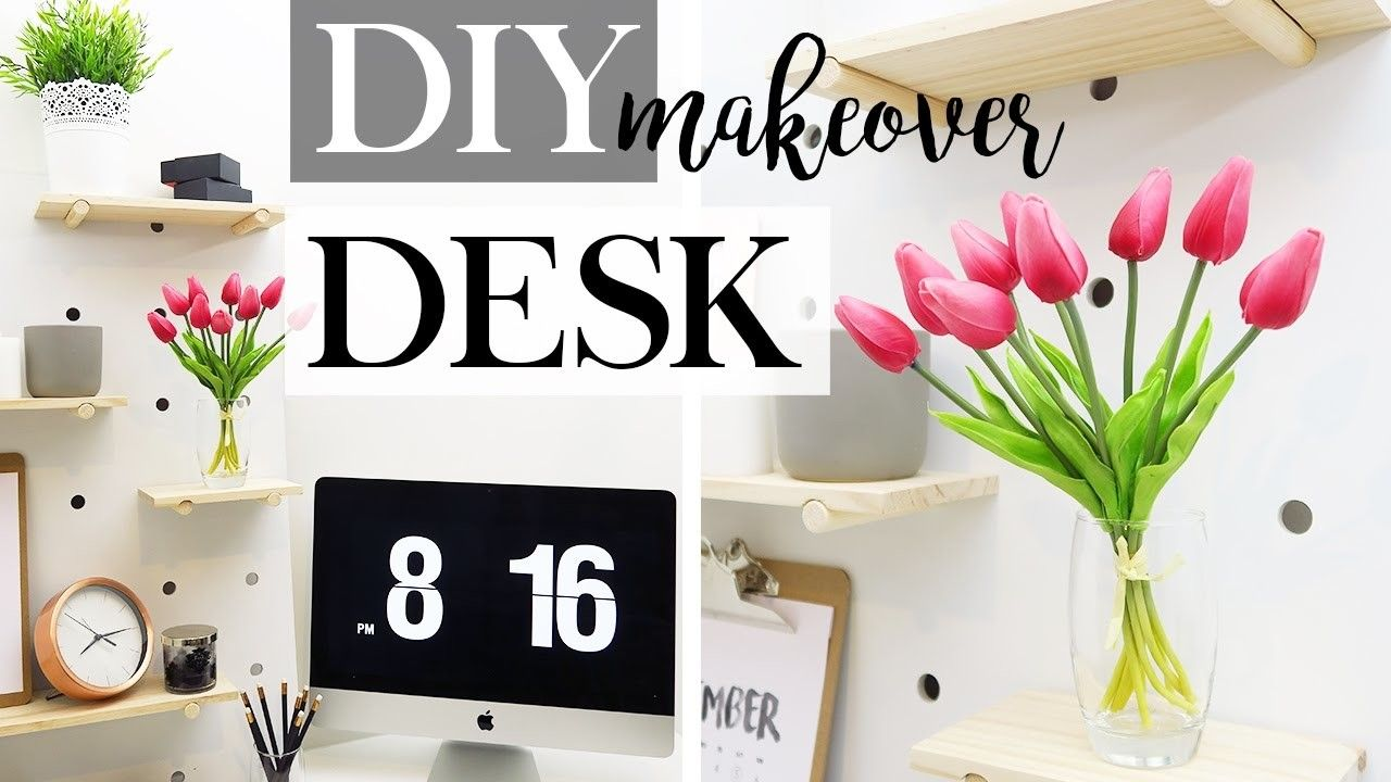 Photo of DIY Desk Makeover – Pegboard Shelves, DIY Decor & Storage