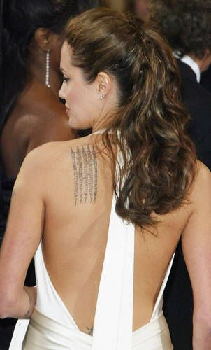 Angelina jolie tattoo naked