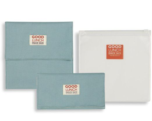 Amazon.com: Good Lunch Snack Sack Blissful Blue, Set of 3: Kitchen & Dining