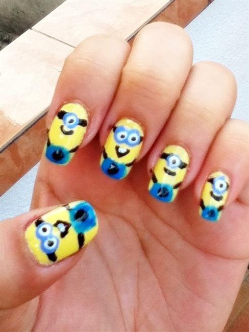 Cartoon nail designs cartoon cartoon character crazy cute cartoon nail designs cartoon cartoon character crazy cute hand painted minionsnail nail prinsesfo Image collections