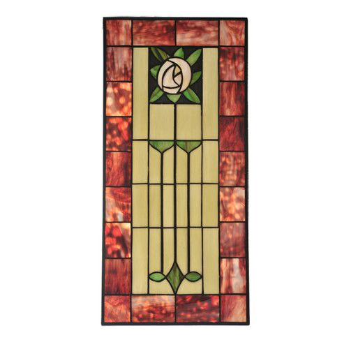 Found it at Wayfair - Pasadena Rose Stained Glass Window