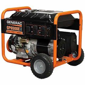 Generac 5941 Gp6500e 6500 Watt Electric Start Portable Generator Portable Generator Portable Power Generator Gas Powered Generator