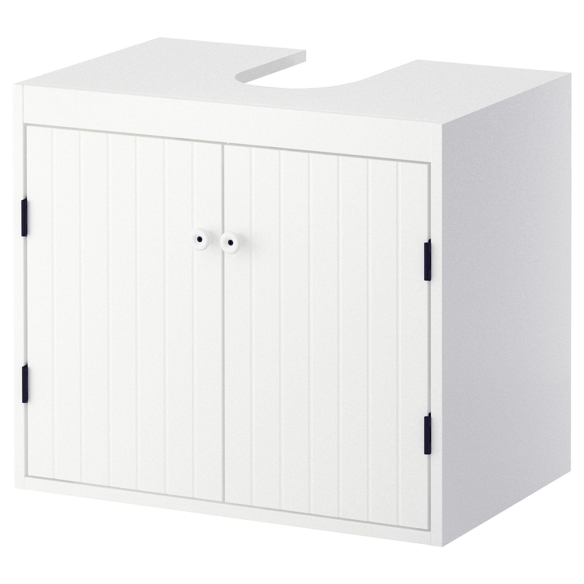 SILVERÅN Waschbeckenunterschrank, 2 Türen, weiß ...
