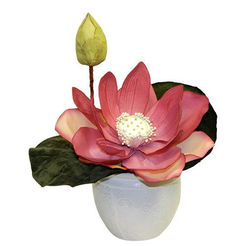Found It At Joss Main Faux Lotus Blossom Home Plants And
