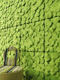 Schallabsorber Einfarbig Grün Leaves   Johanson Design