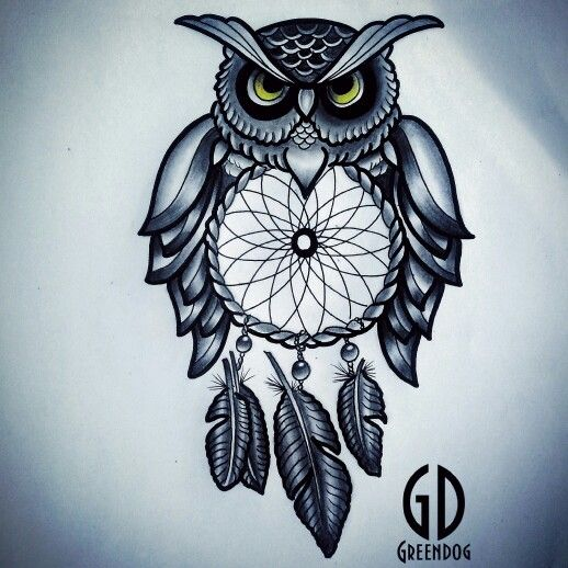 Buho Con Atrapasueños Ink Pinterest Tattoos Dream Catcher Y Ink
