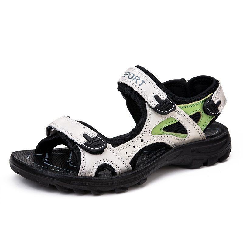 e41dfbd22210e Women Sandals Split Leather Flat Summer Shoes Outdoor Platform Shoes Women  Beach Shoes Casual Sandal For
